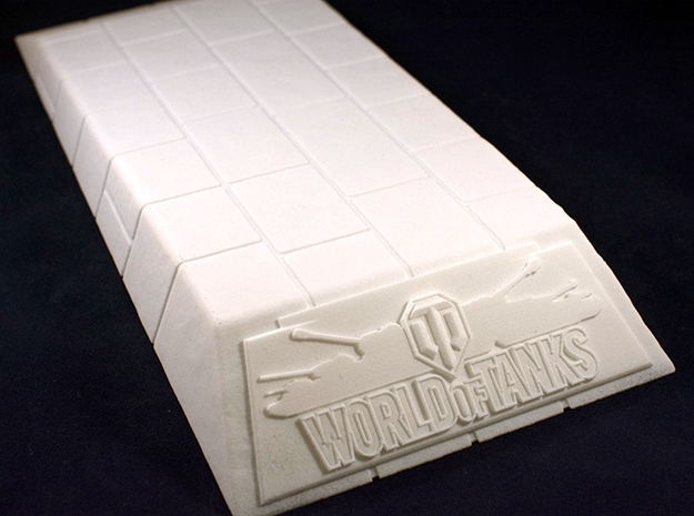 1:35 World of Tanks stand for miniatures  in White Natural Versatile Plastic