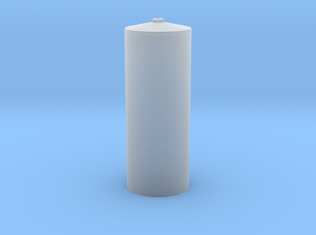 "'N Scale' - 12' Diameter x 31'-9"" Tall Tank in Smooth Fine Detail Plastic"