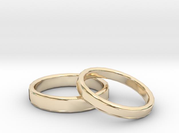 Rings Wedding in 14K Yellow Gold