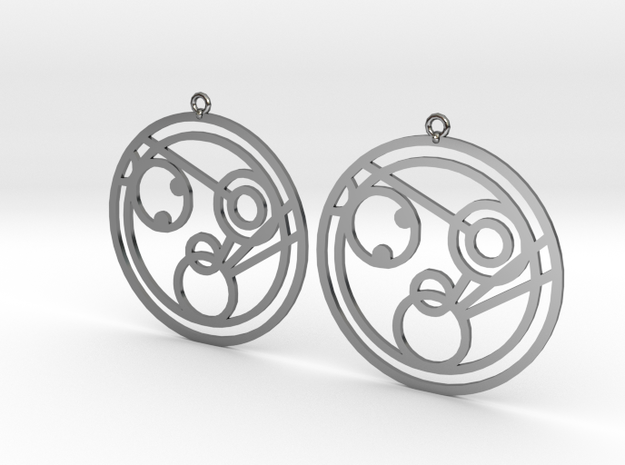 Monica - Earrings - Series 1 in Fine Detail Polished Silver