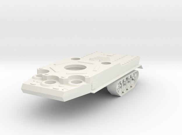 1/100 JN-129 Hull and Rear Tracks in White Natural Versatile Plastic