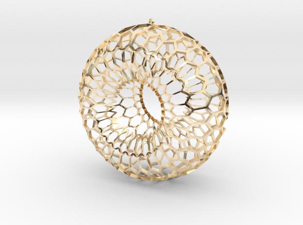Honeycomb Torus Pendant in 14k Gold Plated