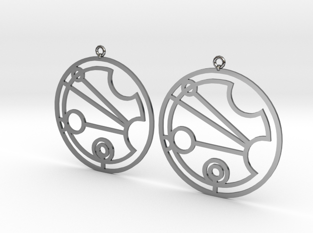 Justina - Earrings - Series 1 in Fine Detail Polished Silver