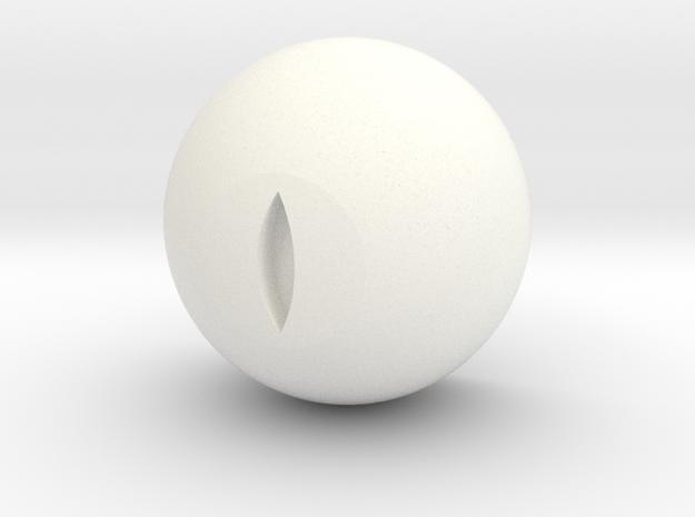 "Cat's eye ""Human size"" Medium dilation  in White Processed Versatile Plastic"