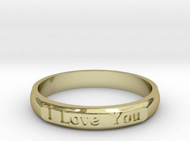 "Ring 'I Love You Inwards' - 16.5cm / 0.65"" - Size  in 18k Gold"