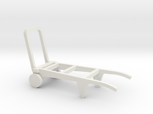 Porters trolley in O scale in White Natural Versatile Plastic