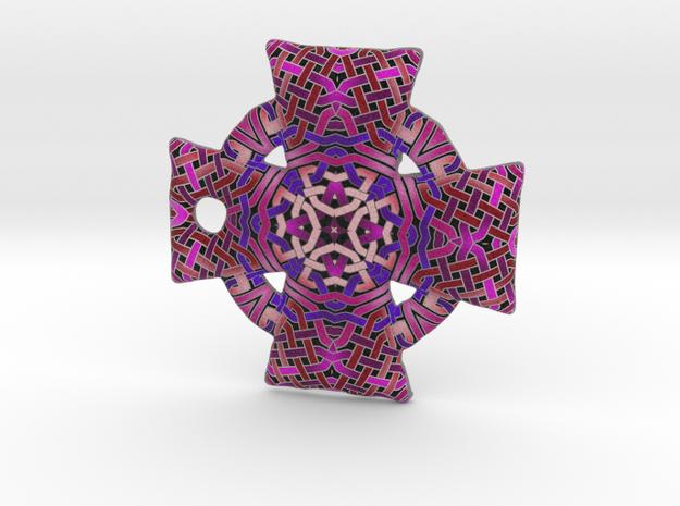 Pink Celtic Cross Pendant in Full Color Sandstone