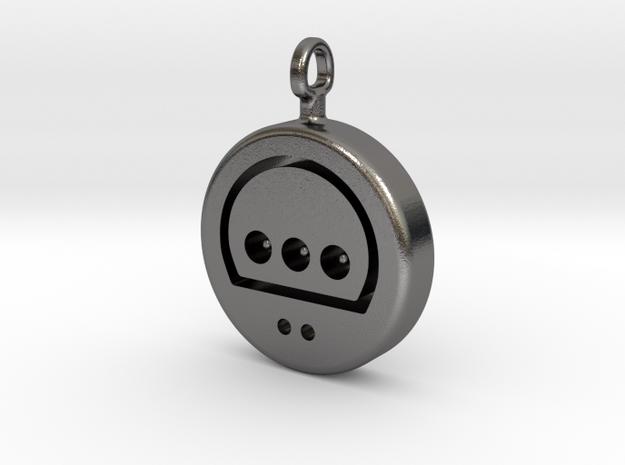 N64 His Controller Pendant in Polished Nickel Steel