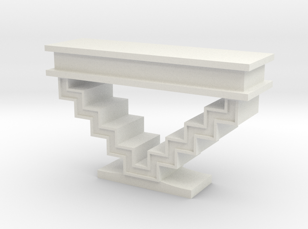 1:48 Zig Zag Console Table in White Natural Versatile Plastic