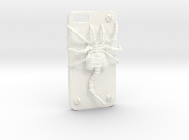 Iphone 6 Casehugger in White Processed Versatile Plastic