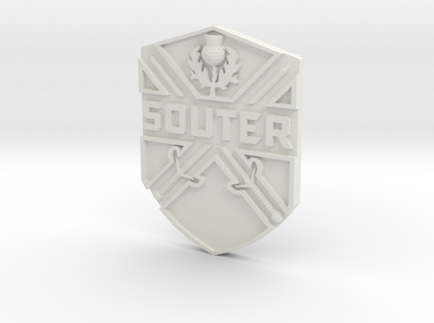 Souter Badge 3d printed
