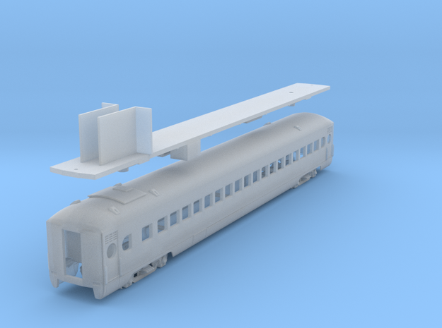 D&H lightweight coach #201 - 206, as built (1/160)