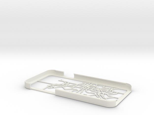 Barcelona Metro map iPhone 6 case in White Natural Versatile Plastic