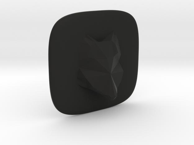 Fox in Black Natural Versatile Plastic