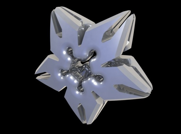 Carrigan Star Pendant in Polished Metallic Plastic