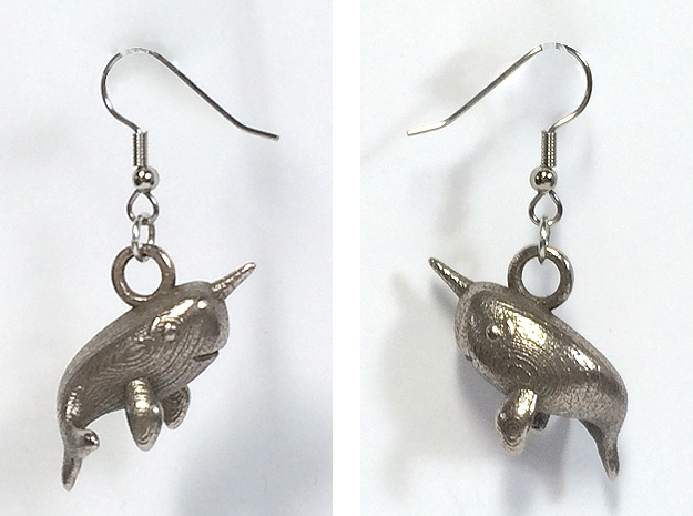 Narwhal Earrings in Stainless Steel