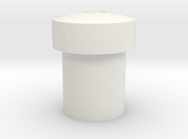 Kg12 Button in White Natural Versatile Plastic