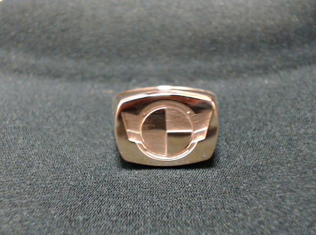 Test Squadron - Signet Ring - Size 11 - (Embed) in Polished Bronze