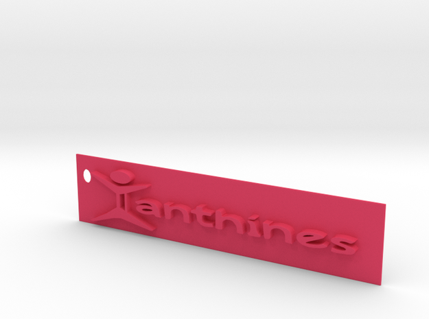 Xanthines Logo Key chain in Pink Processed Versatile Plastic