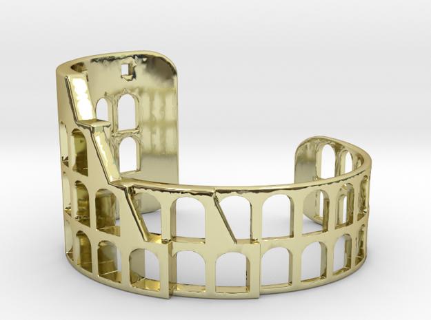 COLOSSEUM BRACELET ORIGINAL (Cut Through) Extra Sm in 18k Gold Plated Brass