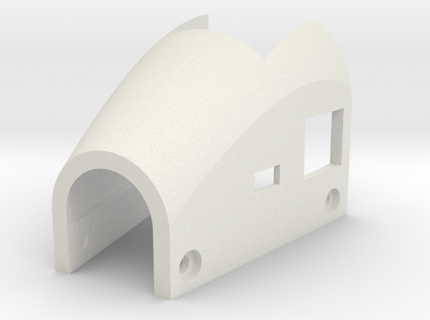 mini-MUTT Motor Mount Cover in White Natural Versatile Plastic