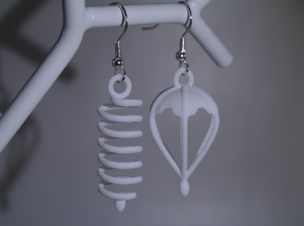 Felix' Big Adventure - Earrings 3d printed