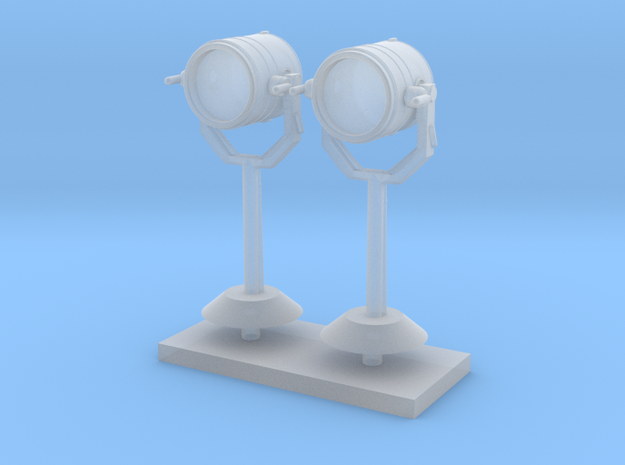 1:96 scale Search Light on stand - Set of 2 in Smooth Fine Detail Plastic
