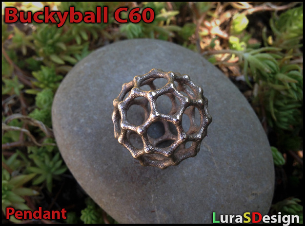 Buckyball C60 Pendant in Stainless Steel