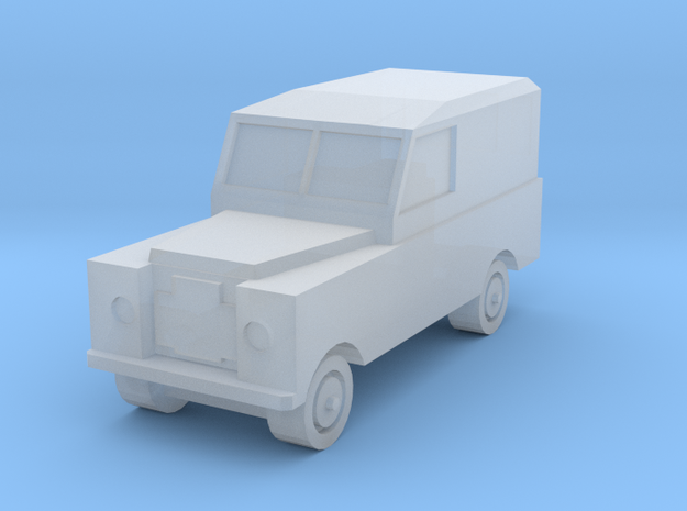 1:450 Land Rover S2a SWB No Side Windows in Smooth Fine Detail Plastic
