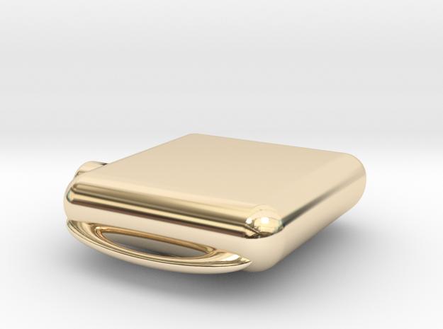 Apple Watch Case Replica in 14k Gold Plated Brass