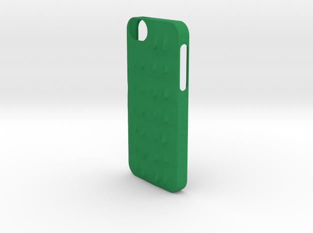 Crocodile Scale iPhone 5/5s Case in Green Processed Versatile Plastic