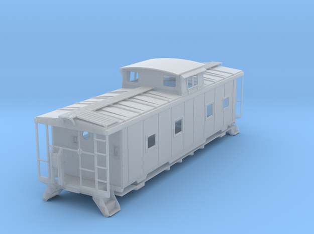 ACL M5 Caboose, split window - S in Smooth Fine Detail Plastic