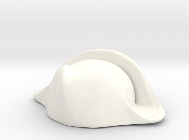 British Navy Bicorne in White Processed Versatile Plastic