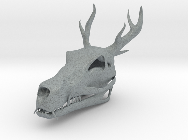 Asian Dragon Skull in Polished Metallic Plastic