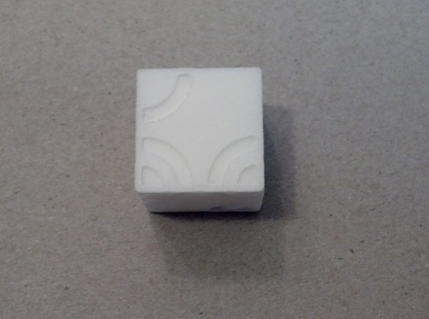 Arc D6 Dice 3d printed A roll of 5. White Strong & Flexible