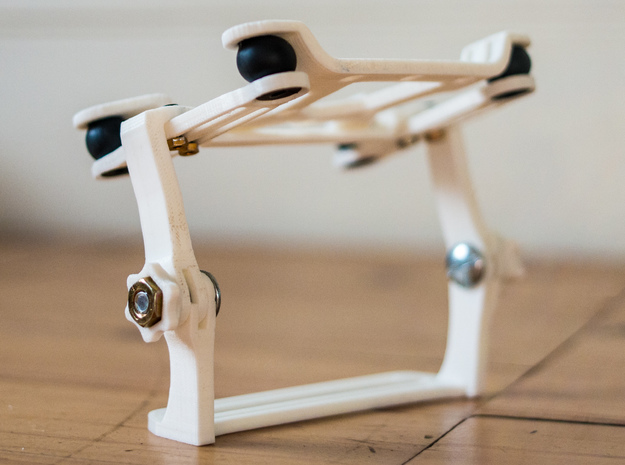 DJI Phantom 2 medium gimbal style camera mount in White Natural Versatile Plastic