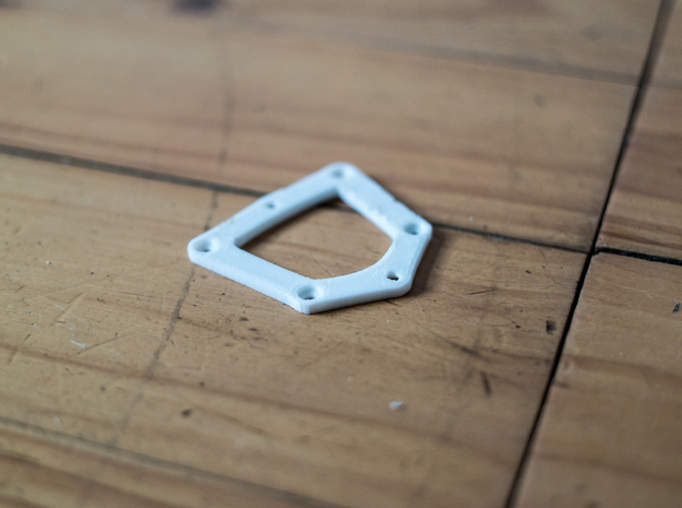 DJI Phantom Camera Mount adapter in White Natural Versatile Plastic