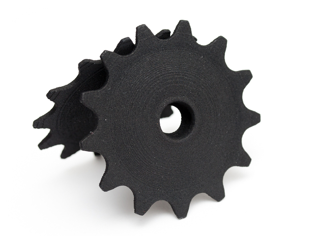 Pulley 13t for RD, hollow, flange in Black Natural Versatile Plastic