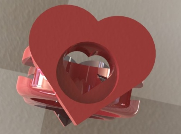 ring of hearts 3d printed