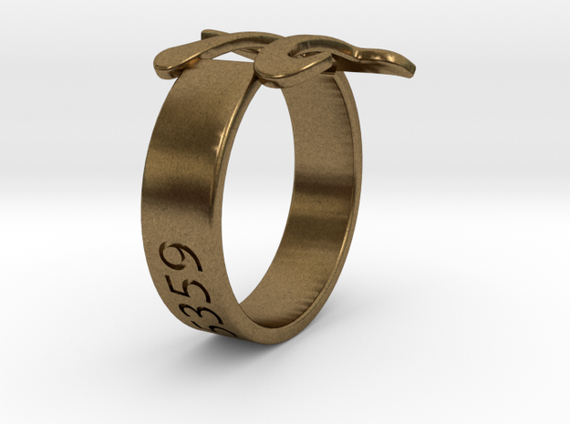 PI Ring Size6 in Natural Bronze