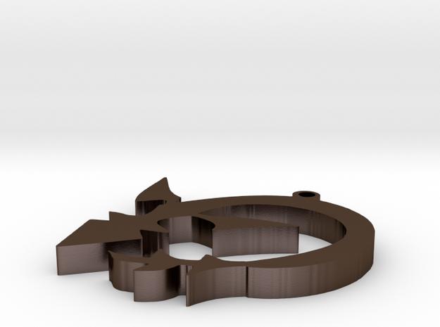 Sith Wyrm Sigil in Polished Bronze Steel