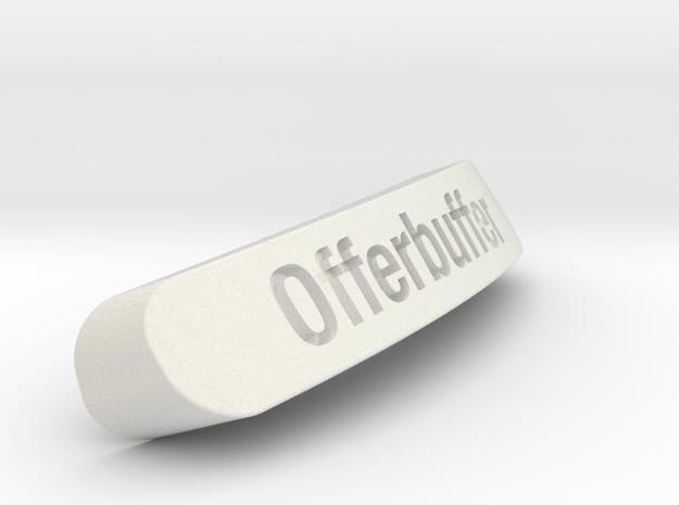 Offerbuffer Nameplate for Steelseries Rival in White Strong & Flexible
