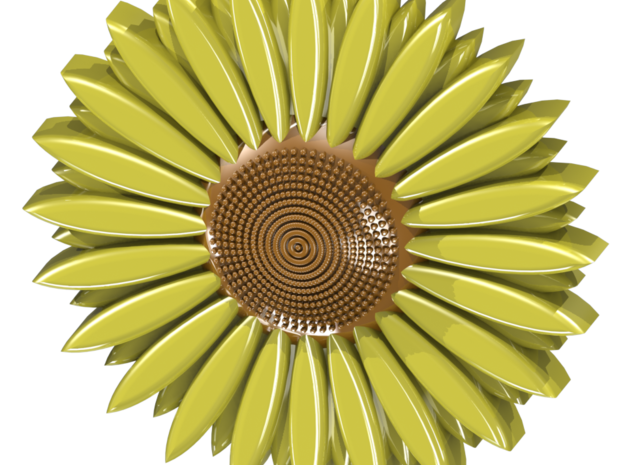 sunflower in White Natural Versatile Plastic