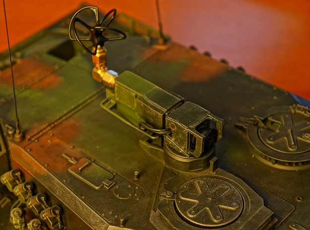 Tamiya Leopard 2 A6 FPV Periscope in Frosted Ultra Detail