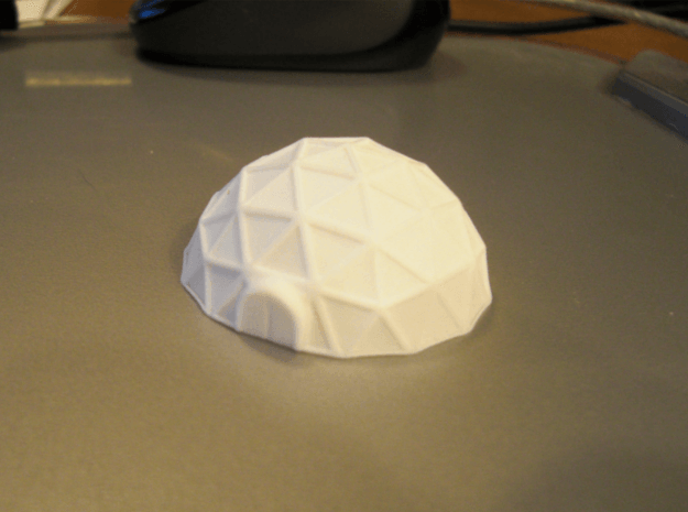 Geodome ⌀42mm  (1/285) 3d printed successfully printed in polished WSF