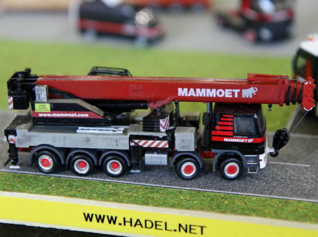 1:87 crane, 70to. 5axle - Autokran 70to., 5achsig in Smooth Fine Detail Plastic