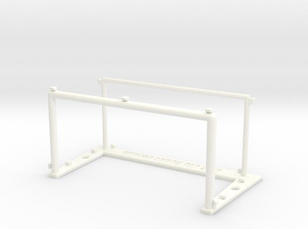 Goal Posts 3 in White Processed Versatile Plastic