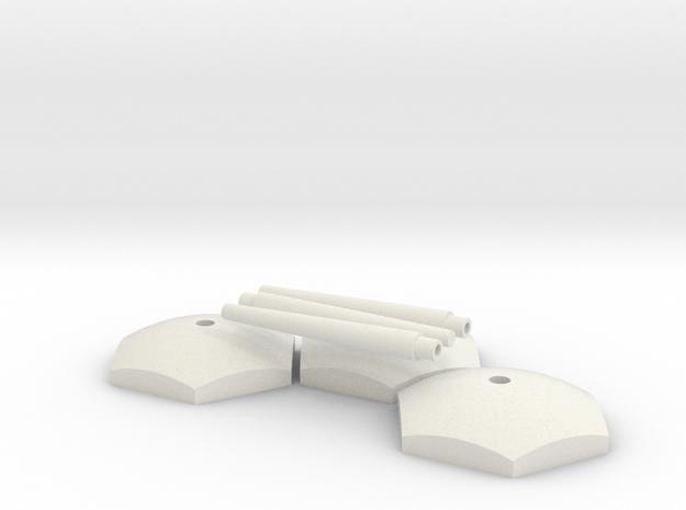 Starship Stand Ver.03 in White Natural Versatile Plastic