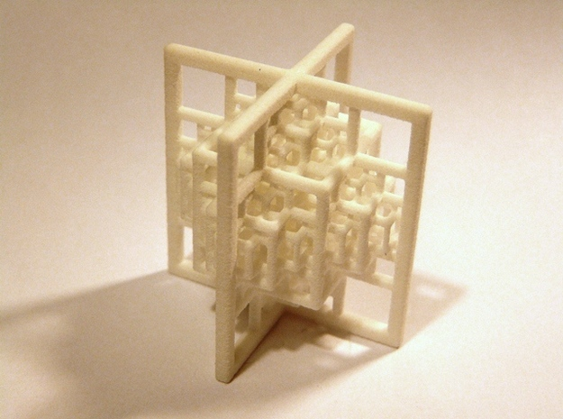 Beamed Octahedron Fractal - Medium 3d printed White Strong & Flexible