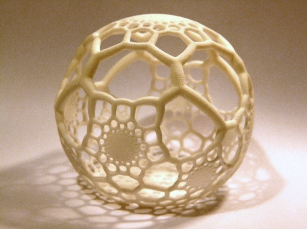 HexaSphere 1 3d printed White Strong & Flexible